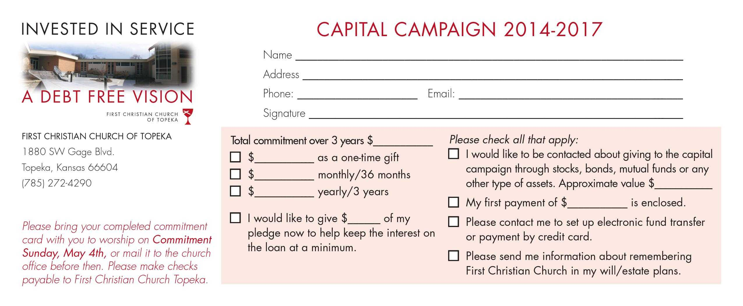 Pledge Card Sample - Fokur.blocorganization Within Free Pledge Card Template