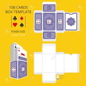 Poker Card Size Tuck Box Template.vector Illustration Ready Design.. with regard to Playing Card Design Template