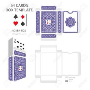 Poker Card Size Tuck Box Template.vector Illustration Ready Design.. within Playing Card Design Template