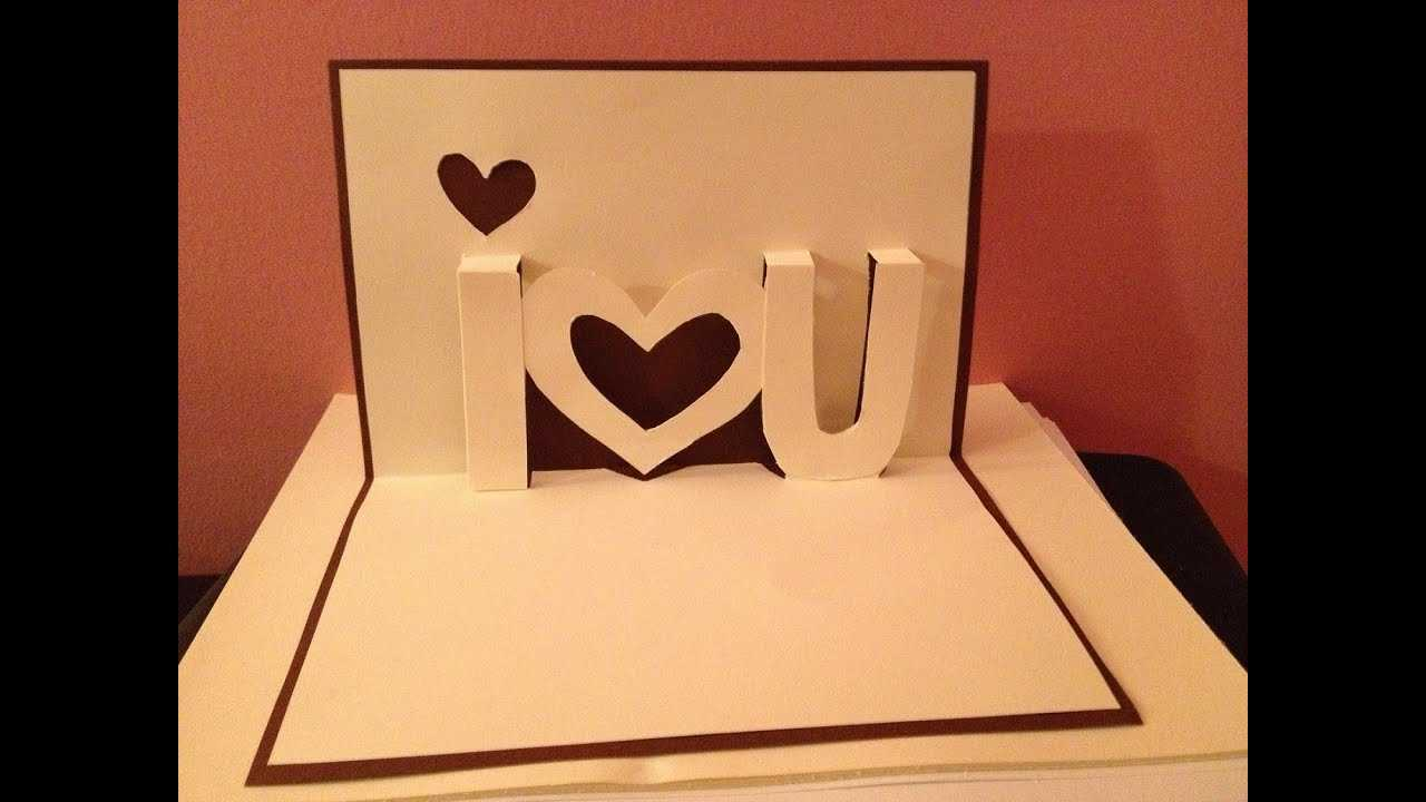 Pop Up Cards - I Love You Pop Up Card - Youtube In I Love You Pop Up Card Template