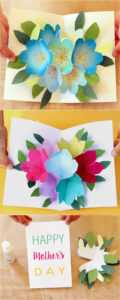 Pop Up Flowers Diy Printable Mother's Day Card – A Piece Of regarding Free Printable Pop Up Card Templates