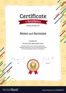 Portrait Certificate Template In Football Sport within Football Certificate Template