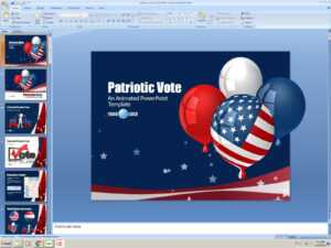 Powerpoint Animated Presentation Template: Patriotic Vote inside Patriotic Powerpoint Template