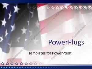Powerpoint Template: American Flag Patriotic On Faded throughout Patriotic Powerpoint Template