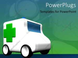 Powerpoint Template: An Ambulance Travelling With Greenish intended for Ambulance Powerpoint Template