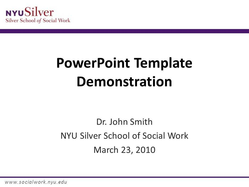 Powerpoint Template Demonstration Dr. John Smith Nyu Silver With Regard To Nyu Powerpoint Template