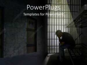 Powerpoint Template: Depression In Jail (17751) inside Depression Powerpoint Template