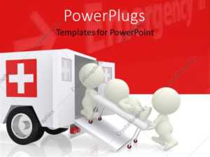 Powerpoint Template: Emergency Ambulance With Doctors within Ambulance Powerpoint Template