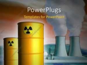 Powerpoint Template: Radioactive Waste From A Nuclear Power regarding Nuclear Powerpoint Template