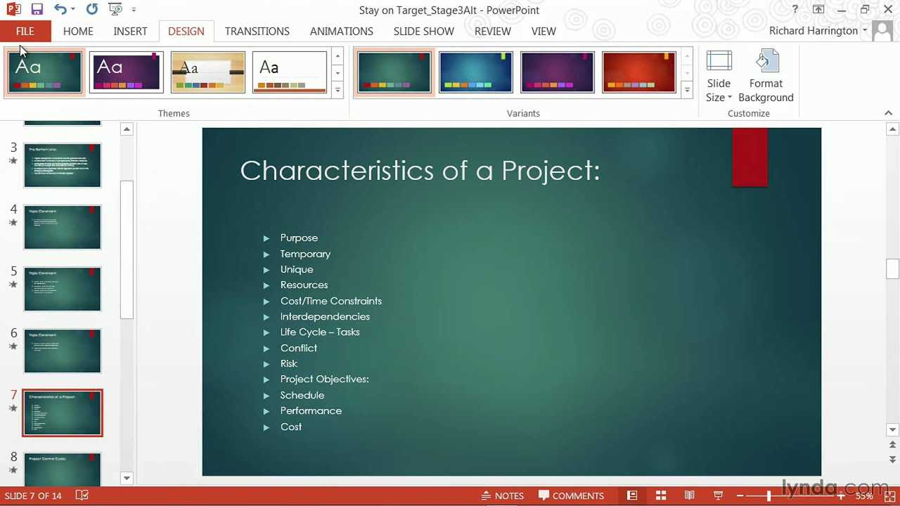 Powerpoint Tutorial: How To Change Templates And Themes | Lynda Within Change Template In Powerpoint