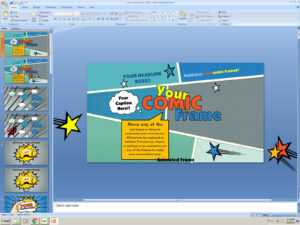 Powerpoint: Your Comic Frame Presentation Template regarding Powerpoint Comic Template