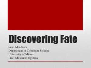 Ppt – Discovering Fate Powerpoint Presentation, Free throughout University Of Miami Powerpoint Template