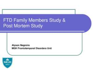 Ppt – Ftd Family Members Study & Post Mortem Study for Post Mortem Template Powerpoint