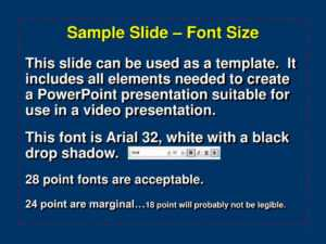 Ppt – Sample Slide – Font Size Powerpoint Presentation, Free intended for Powerpoint Presentation Template Size