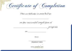 Premium Blank Certificate Of Completion Flyers : V-M-D throughout Free Certificate Of Completion Template Word