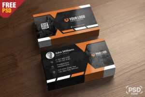 Premium Business Card Templates Free Psd – Psd Zone with regard to Psd Name Card Template