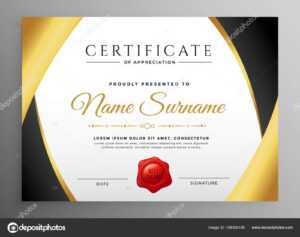 Premium Certificate Appreciation Template — Stock Vector throughout Free Certificate Of Appreciation Template Downloads