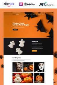 Premium Halloween WordPress Themes 2020 | Templatemonster intended for Halloween Costume Certificate Template