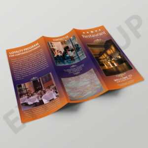 Premium Hotel Tri-Fold Brochure Template pertaining to Hotel Brochure Design Templates