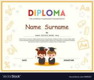 Preschool Kids Diploma Certificate Template Regarding Preschool Graduation Certificate Template Free