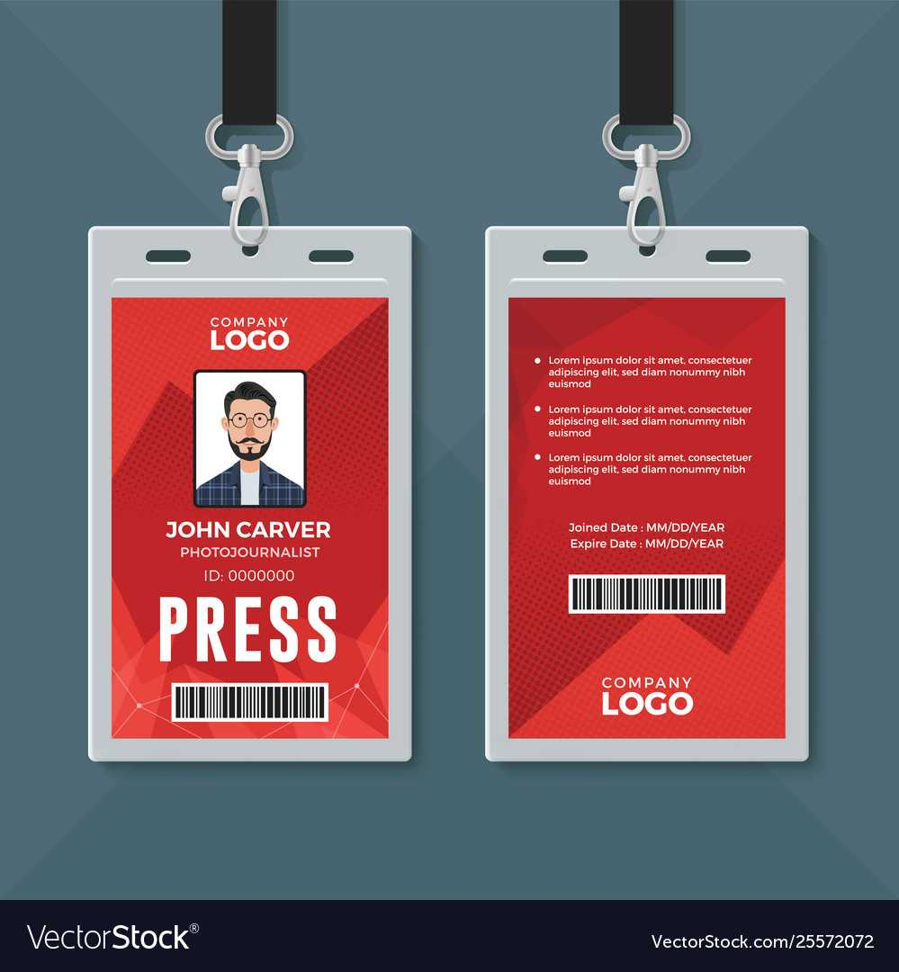 Press Id Card Design Template Within Media Id Card Templates