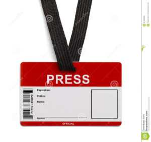 Press Id Card Stock Photo. Image Of Label, Broadcasting in Media Id Card Templates