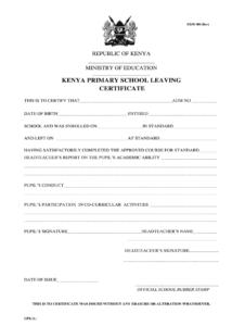 Primary School Leaving Certificate – Fill Online, Printable inside Leaving Certificate Template
