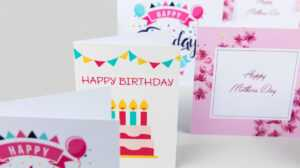Print Greeting Cards | Custom Greeting Cards | Digital within Indesign Birthday Card Template
