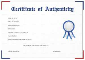 Printable Certificate Of Authenticity That Are Gorgeous within Certificate Of Authenticity Template