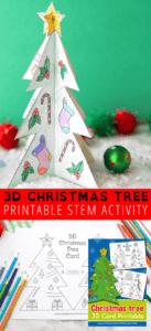 Printable Christmas Tree Template   Little Bins For Little Hands for 3D Christmas Tree Card Template