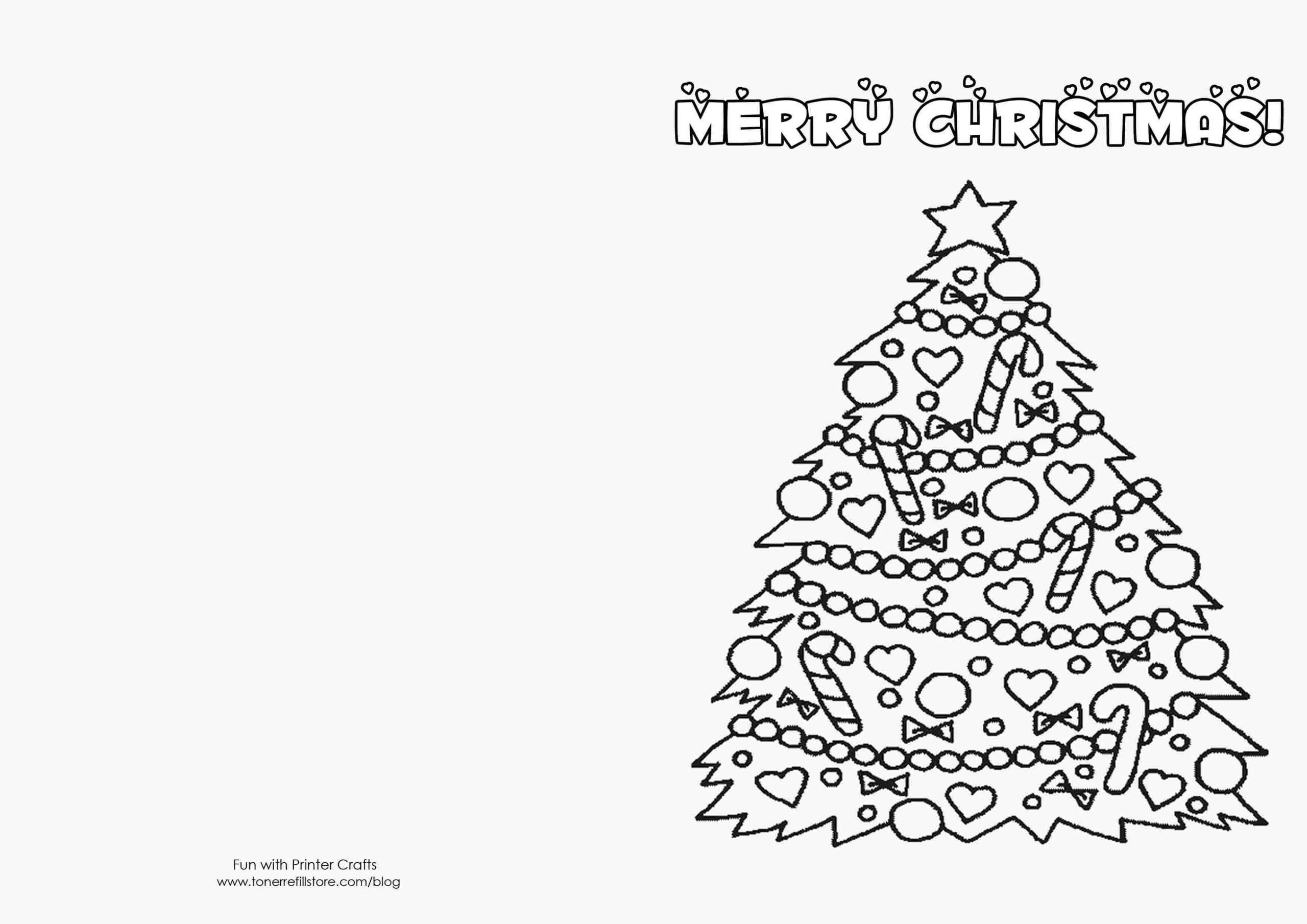 Printable Coloring Christmas Cards Templates How To Make Within Printable Holiday Card Templates