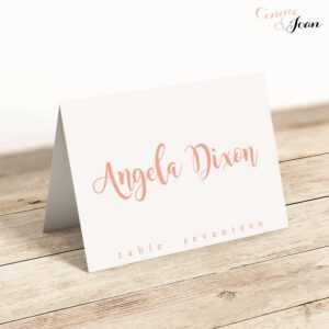 Printable Folded Place Cards Table Name Cards Template with Fold Over Place Card Template