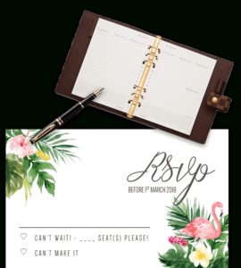Printable Free Wedding Rsvp Template & Cards Microsoft Word for Acceptance Card Template