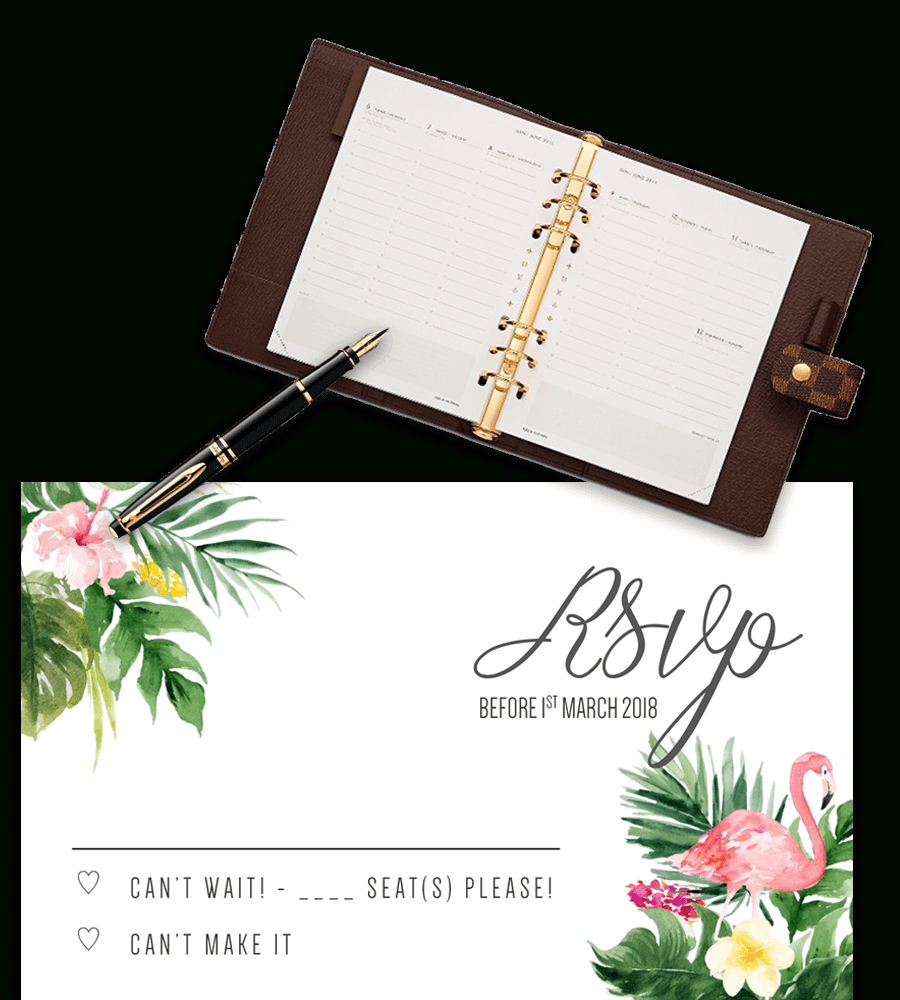 Printable Free Wedding Rsvp Template & Cards Microsoft Word For Free Printable Wedding Rsvp Card Templates
