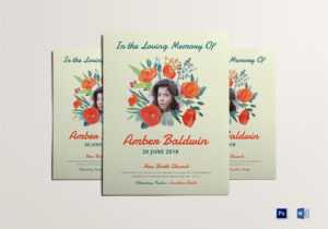Printable Memorial Flyer intended for Memorial Brochure Template