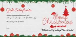 Printable Merry Christmas Gift Certificate with regard to Merry Christmas Gift Certificate Templates