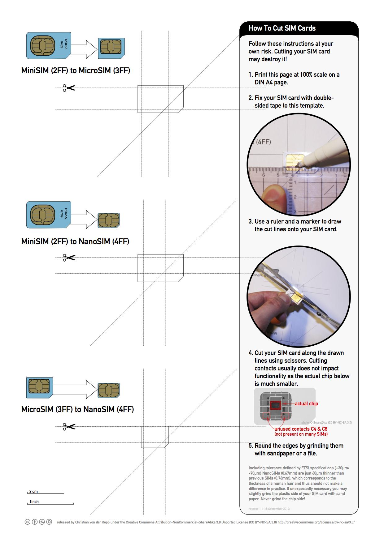 Printable Nano Sim And Micro Sim Cutting Guide [Download Throughout Sim Card Cutter Template