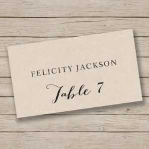 Printable Place Card Template – Escort Card Template – Tent throughout Ms Word Place Card Template