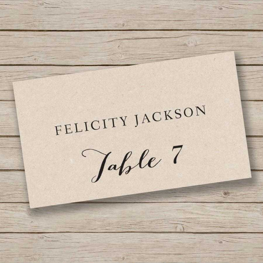 Printable Place Card Template Escort Tent Excellent Free Within Table Name Cards Template Free