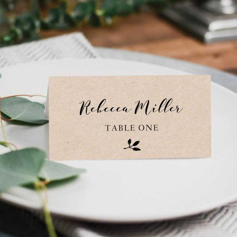 Printable Place Cards, Place Card Template, Editable Place With Regard To Printable Escort Cards Template