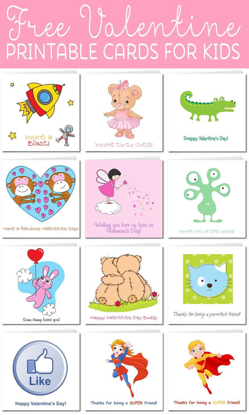 Printable Valentine Cards For Kids With Regard To Valentine Card Template For Kids