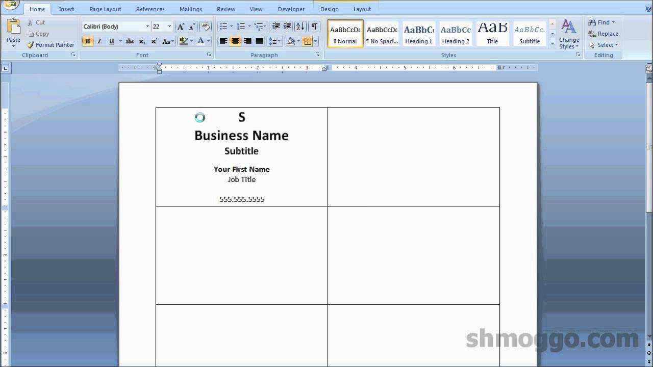 Printing Business Cards In Word | Video Tutorial Throughout Business Card Template Word 2010