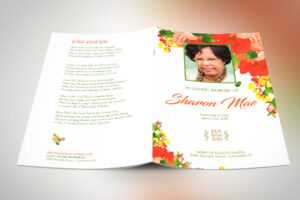 Printing Funeral Program with Fedex Brochure Template