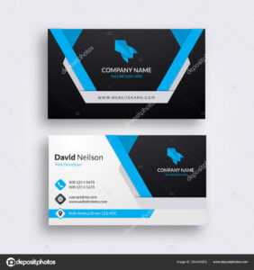 Professional Abstract Business Card Clean Fresh Design intended for Professional Name Card Template