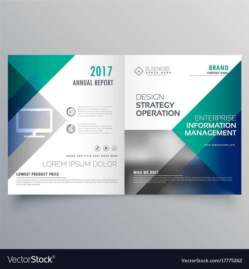 Professional Blue Bi Fold Brochure Template Design Throughout Professional Brochure Design Templates