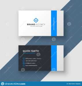 Professional Blue Minimal Style Business Card Template Stock for Professional Name Card Template