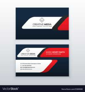 Professional Business Card Design Template In Red intended for Professional Business Card Templates Free Download