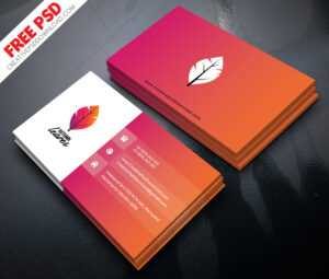 Professional Business Card Psd Free Download inside Visiting Card Template Psd Free Download