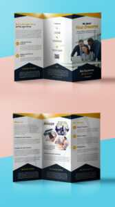Professional Corporate Tri-Fold Brochure Free Psd Template pertaining to Free Tri Fold Business Brochure Templates