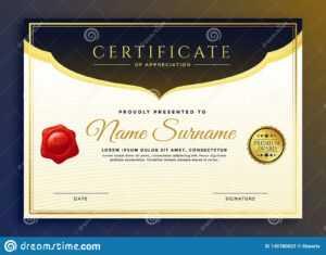 Professional Diploma Certificate Template Design Stock pertaining to Professional Award Certificate Template